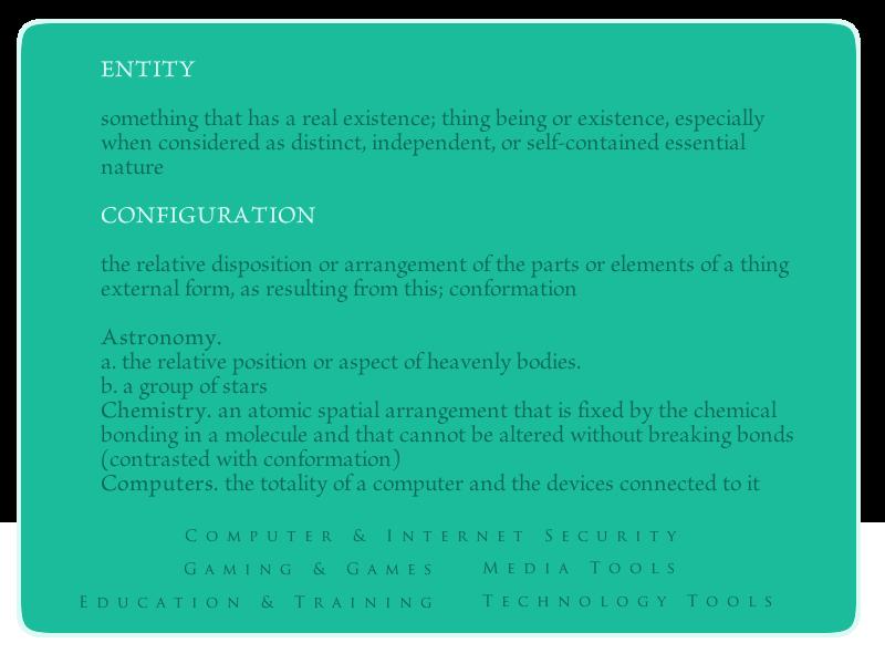Entity Configuration
